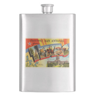 San Antonio #2 Texas TX Vintage Travel Souvenir Flasks