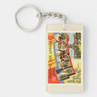 San Antonio #2 Texas TX Vintage Travel Souvenir Keychain
