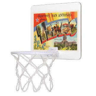 San Antonio #2 Texas TX Vintage Travel Souvenir Mini Basketball Hoop