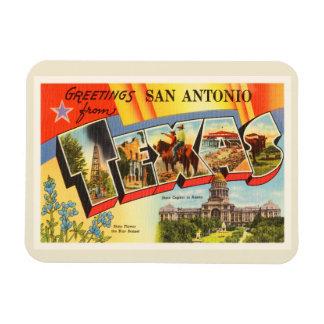 San Antonio #2 Texas TX Vintage Travel Souvenir Rectangular Photo Magnet