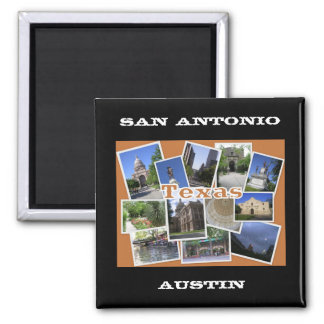 San Antonio/Austin Texas Collage Magnet