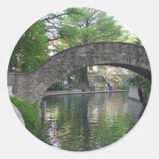 San Antonio Bridges Riverwalk Classic Round Sticker