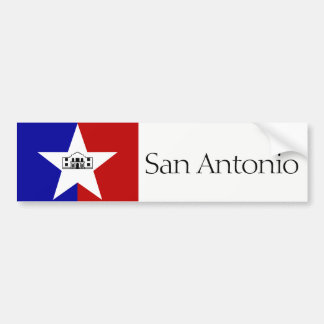 San Antonio city flag bumper sticker