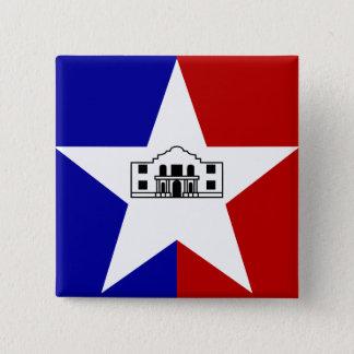 San Antonio Flag 2 Inch Square Button