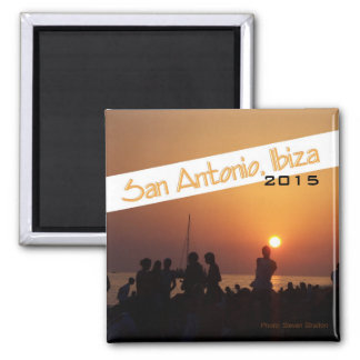 San Antonio Ibiza Beach Scene Magnet Change Year