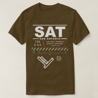 San Antonio International Airport SAT Tee Shirt