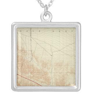San Antonio quadrangle showing San Andreas Rift Silver Plated Necklace
