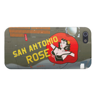 San Antonio Rose B-24 Nose Art (Vintage Fuselage) iPhone 5 Case