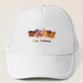 San Antonio skyline in watercolor Trucker Hat