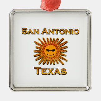 San Antonio Sun Icon Metal Ornament
