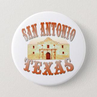 San Antonio Texas 3 Inch Round Button