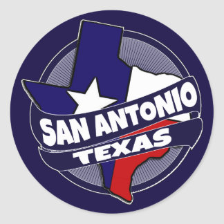 San Antonio Texas flag burst stickers