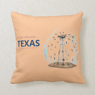 San Antonio Texas Oil Drill Throw Pillow