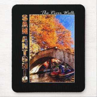 San Antonio, Texas:  River Walk Bridge Mouse Pad