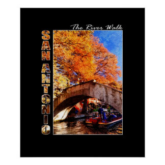 San Antonio, Texas:  River Walk Bridge Poster