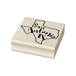 San Antonio Texas Sketch Rubber Art Stamp