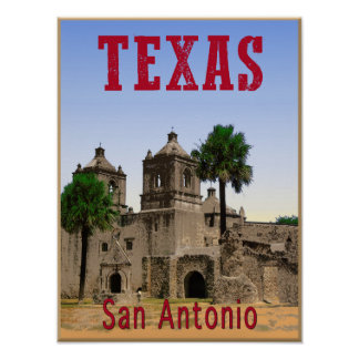 San Antonio, Texas travel poster