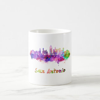 San Antonio V2 skyline in watercolor Coffee Mug