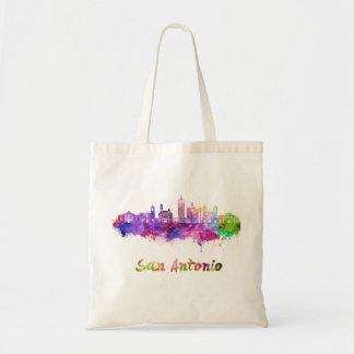 San Antonio V2 skyline in watercolor Tote Bag