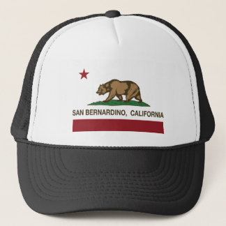 san bernardino california state flag trucker hat