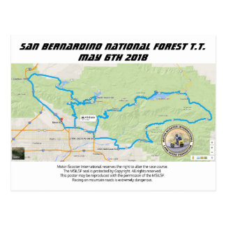 San Bernardino National Forest T.T. Postcard