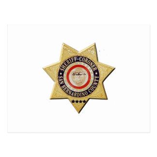 San Bernardino Sheriff-Coroner Postcard