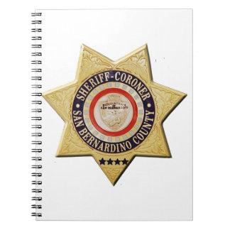 San Bernardino Sheriff-Coroner Spiral Notebook