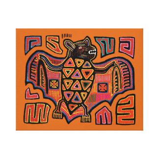 San Blas Island Kuna Indian Mola Fruit Bat Canvas Print