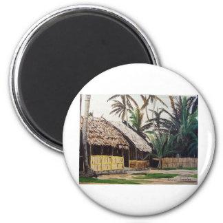 San Blas Islands, Panama WaterColor 2 Inch Round Magnet