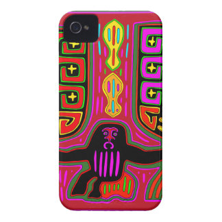 San Blas Kuna Man with Fans Case-Mate iPhone 4 Case
