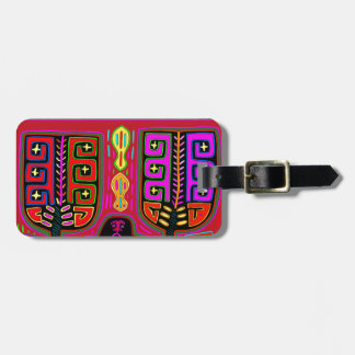 San Blas Kuna Man with Fans Luggage Tag