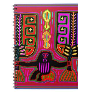 San Blas Kuna Man with Fans Spiral Notebook
