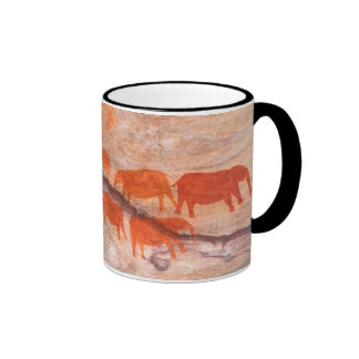 San, Bushman Rock Art, Cederberg Wilderness Ringer Coffee Mug
