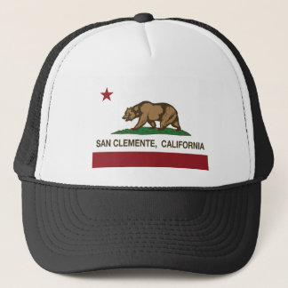 san clemente california flag trucker hat