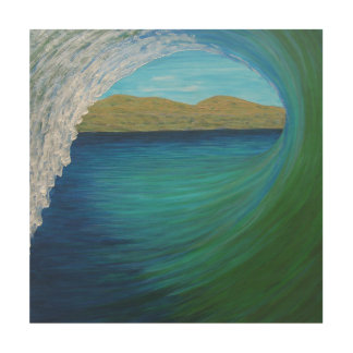 San Clemente curling Wood Wall Decor