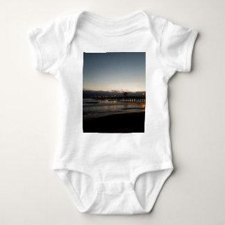 san clemente pier night time ocean california baby bodysuit