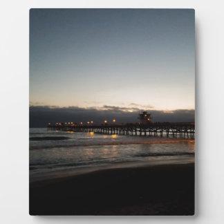 san clemente pier night time ocean california plaque