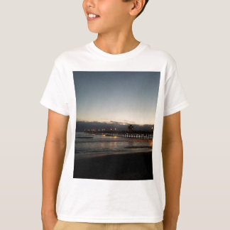 san clemente pier night time ocean california T-Shirt
