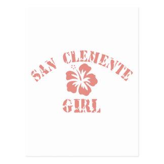 San Clemente Pink Girl Postcard