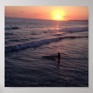 San Clemente Sunset Poster