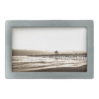San Clemete pier California beach vintage photo Belt Buckle