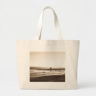 San Clemete pier California beach vintage photo Large Tote Bag