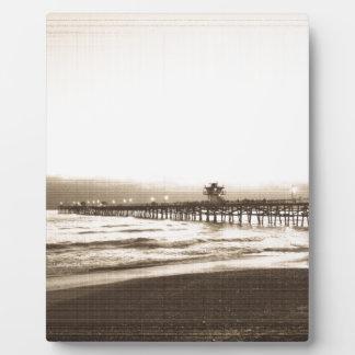 San Clemete pier California beach vintage photo Plaque