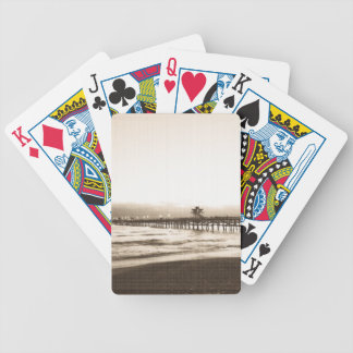 San Clemete pier California beach vintage photo Poker Deck