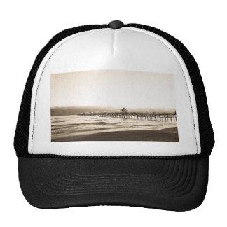 San Clemete pier California beach vintage photo Trucker Hat