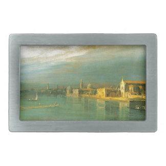 San Cristoforo, San Michele & Murano by Canaletto Rectangular Belt Buckles