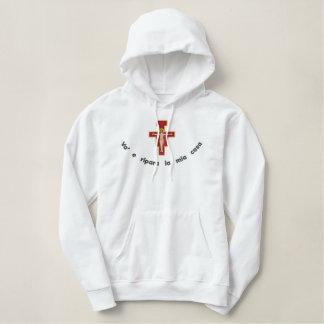 San Damiano felpa Embroidered Hoodie