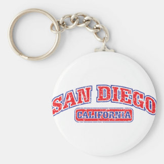 San Diego Athletic Basic Round Button Keychain