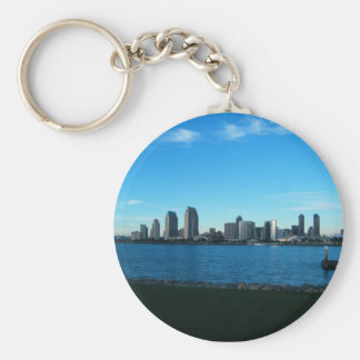 San Diego Basic Round Button Keychain