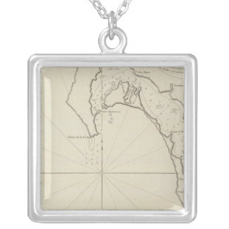 San Diego Bay Region  San Blas Region Mexico Silver Plated Necklace